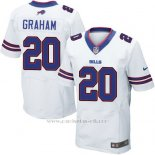 Camiseta Buffalo Bills Graham Blanco Nike Elite NFL Hombre