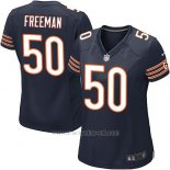 Camiseta Chicago Bears Freeman Blanco Negro Nike Game NFL Mujer