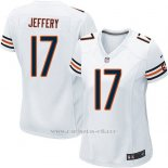 Camiseta Chicago Bears Jeffery Blanco Nike Game NFL Mujer