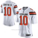 Camiseta Cleveland Browns Griffin Blanco Nike Game NFL Nino