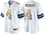 Camiseta Dallas Cowboys Prescott Blanco Nike Gold Game NFL Hombre