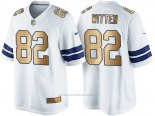 Camiseta Dallas Cowboys Witten Blanco Nike Gold Game NFL Hombre