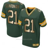 Camiseta Green Bay Packers Clinton-Dix Verde Nike Gold Elite NFL Hombre