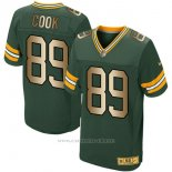 Camiseta Green Bay Packers Cook Verde Nike Gold Elite NFL Hombre