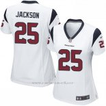 Camiseta Houston Texans Jackson Blanco Nike Game NFL Mujer