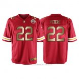 Camiseta Kansas City Chiefs Peters Rojo Nike Gold Game NFL Hombre