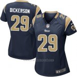 Camiseta Los Angeles Rams Dickerson Negro Nike Game NFL Mujer