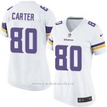 Camiseta Minnesota Vikings Carter Blanco Nike Game NFL Mujer