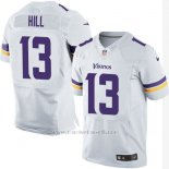 Camiseta Minnesota Vikings Hill Blanco Nike Elite NFL Hombre