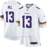 Camiseta Minnesota Vikings Hill Blanco Nike Game NFL Hombre