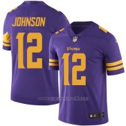 Camiseta Minnesota Vikings Johnson Violeta Nike Legend NFL Hombre2