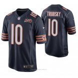 Camiseta NFL Game Hombre Chicago Bears Mitchell Trubisky 100th Aniversario Azul