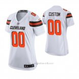 Camiseta NFL Game Mujer Cleveland Browns Custom Blanco