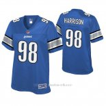 Camiseta NFL Game Mujer Detroit Lions Damon Harrison Azul Historic Logo