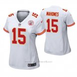 Camiseta NFL Game Mujer Kansas City Chiefs Patrick Mahomes II Blanco