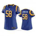 Camiseta NFL Game Mujer Los Angeles Rams Clay Johnston Azul