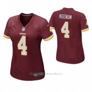 Camiseta NFL Game Mujer Washington Redskins Case Keenum Rojo