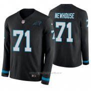 Camiseta NFL Hombre Carolina Panthers Marshall Newhouse Negro Manga Larga