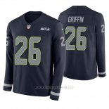 Camiseta NFL Hombre Seattle Seahawks Shaquill Griffin Azul Therma Manga Larga