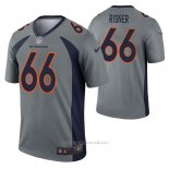 Camiseta NFL Legend Denver Broncos Dalton Risner Inverted Gris