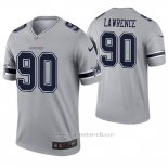 Camiseta NFL Legend Hombre Dallas Cowboys 90 Demarcus Lawrence Inverted Gris