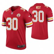 Camiseta NFL Legend Hombre Kansas City Chiefs Charcandrick West Rojo Color Rush