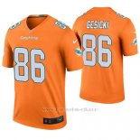 Camiseta NFL Legend Hombre Miami Dolphins Mike Gesicki Naranja Color Rush