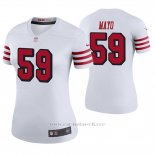 Camiseta NFL Legend Mujer San Francisco 49ers David Mayo Blanco Color Rush