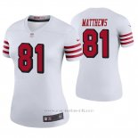 Camiseta NFL Legend Mujer San Francisco 49ers Jordan Matthews Blanco Color Rush
