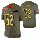 Camiseta NFL Limited Chicago Bears 52 Khalil Mack 2019 Salute To Service Verde