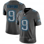 Camiseta NFL Limited Detroit Lions Stafford Static Fashion Gris