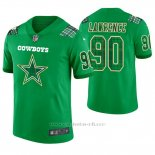 Camiseta NFL Limited Hombre Dallas Cowboys Demarcus Lawrence St. Patrick's Day Verde