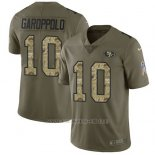 Camiseta NFL Limited Hombre San Francisco 49ers 10 Jimmy Garoppolo 2017 Salute To Service Camo