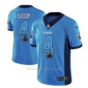 Camiseta NFL Limited Hombre Tennessee Titans Ryan Succop Light Azul 2018 Drift Fashion Color Rush