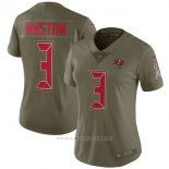 Camiseta NFL Limited Mujer 3 Winston Tampa Bay Buccaneers 2017 Salute To Service Verde