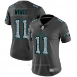 Camiseta NFL Limited Mujer New York Jets Wentz Static Fashion Gris