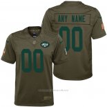 Camiseta NFL Limited Nino New York Jets Personalizada Salute To Service Verde