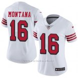 Camiseta NFL Limited Nino San Francisco 49ers 16 Joe Montana Blanco Rush Stitched Vapor Untouchable