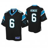 Camiseta NFL Panthers Taylor Heinicke Negro Pro Line