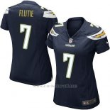 Camiseta San Diego Chargers Flutie Negro Nike Game NFL Mujer