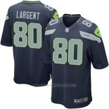 Camiseta Seattle Seahawks Largent Azul Oscuro Nike Game NFL Nino