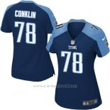 Camiseta Tennessee Titans Conklin Azul Oscuro Nike Game NFL Mujer
