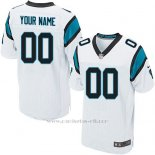 Camisetas NFL Elite Hombre Carolina Panthers Personalizada Blanco