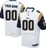 Camisetas NFL Limited Los Angeles Rams Personalizada Blanco