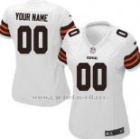 Camisetas NFL Mujer Cleveland Browns Personalizada Blanco