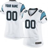 Camisetas NFL Replica Mujer Carolina Panthers Personalizada Blanco