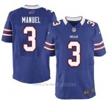 Camiseta Buffalo Bills Manuel Azul Nike Elite NFL Hombre