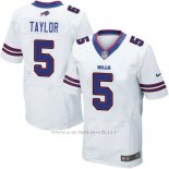 Camiseta Buffalo Bills Taylor Blanco Nike Elite NFL Hombre