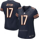Camiseta Chicago Bears Jeffery Blanco Negro Nike Game NFL Mujer