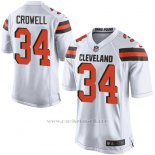 Camiseta Cleveland Browns Crowell Blanco Nike Game NFL Nino